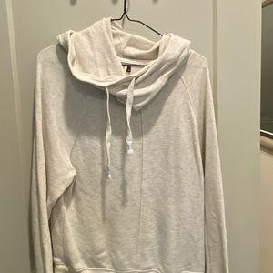 Slouchy neck sweatshirt